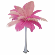 """Pretty in Pink"" Ostrich Feather Centerpiece"