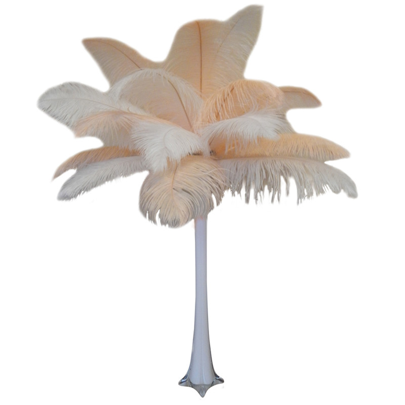 Quot Peaches And Cream Quot Ostrich Feather Centerpiece Events