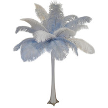 """Baby Blue"" Ostrich Feather Centerpiece"