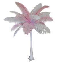 """Baby Pink"" Ostrich Feather Centerpiece"