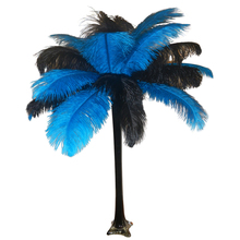 """Turquoise"" Ostrich Feather Centerpiece"