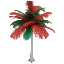 """Christmas"" Ostrich Feather Centerpiece"