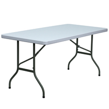 30''W x 60''L Blow Molded Plastic Folding Table