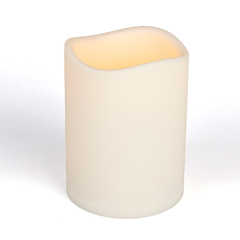 Bisque Resin Weather Resistant LED Pillars