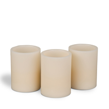 Flameless Straight Edge Bisque Pillar Candles