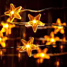"Case of 12 Warm White Star LED String 40""L"