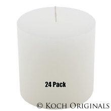 Pillar Candle - 3'' x 3'' - 24 Pack