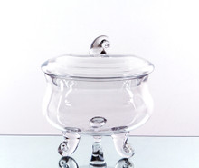 """8.5"""" x 8"""" Apothecary Jar for Candy Buffet, 3 Legs - 4 Pieces"""