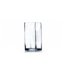 "4"" x 8"" Block Glass Vase - 12 Pieces"