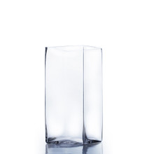 "5"" x 5"" Block Glass Vase - 6 Pieces"