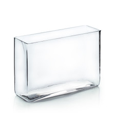 "3"" x 10"" Rectangular Glass Vase - 6 Pieces"