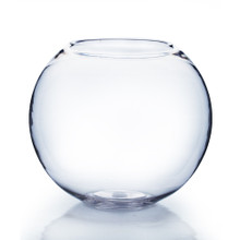 "6"" x 5"" Clear Bubble Bowl Vase - 12 Pieces"