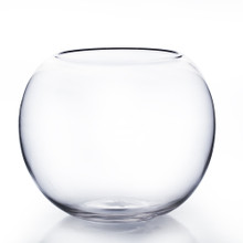 "8"" x 6.3"" Clear Bubble Bowl Vase - 6 Pieces"