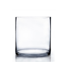 "4"" x 4"" Clear Cylinder Glass Vase - 24 Pieces"