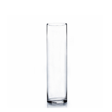 "4"" x 14"" Cylinder Glass Vase - 12 Pieces"