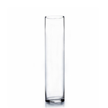 "4"" x 18"" Cylinder Glass Vase - 12 Pieces"