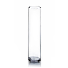 "5"" x 24"" Cylinder Glass Vase - 6 Pieces"