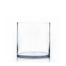"8"" x 8"" Cylinder Glass Vase - 6 Pieces"
