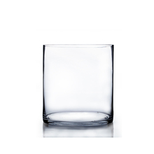 "8"" x 10"" Cylinder Glass Vase - 6 Pieces"