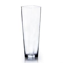 "20"" Taper Down Block Vase - 4 Pieces"