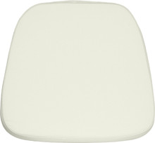 Soft Ivory Fabric Chiavari Chair Cushion