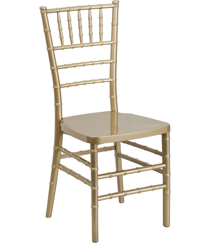 Exceptionnel Gold Resin Stacking Chiavari Chair. Image 1