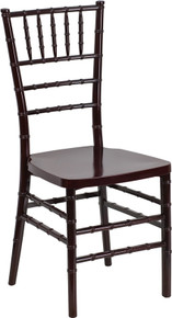 Mahogany Resin Stacking Chiavari Chair