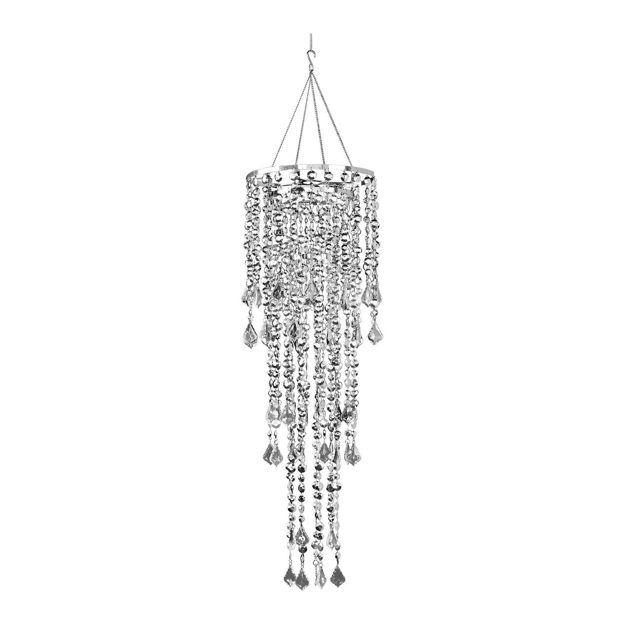 10 diameter multi diamond cut silver chandelier events wholesale loading zoom aloadofball Choice Image
