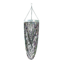 Black Twisted Chandelier with Diamond Cut Beads