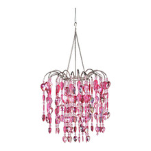 Pink Waterfall Chandelier