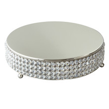 "Sparkle 14"" Round Cake Plateau in Sterling Silver"