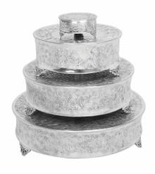 Set of 4 Round Aluminum Cake Stands
