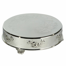 "14"" Round Silver Plated Cake Plateau"