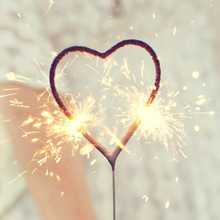 Gold Heart Sparklers - Box of 36