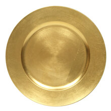 Case of 24 Gold Round Charger Plates