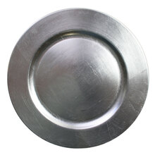 Case of 24 Silver Round Charger Plates