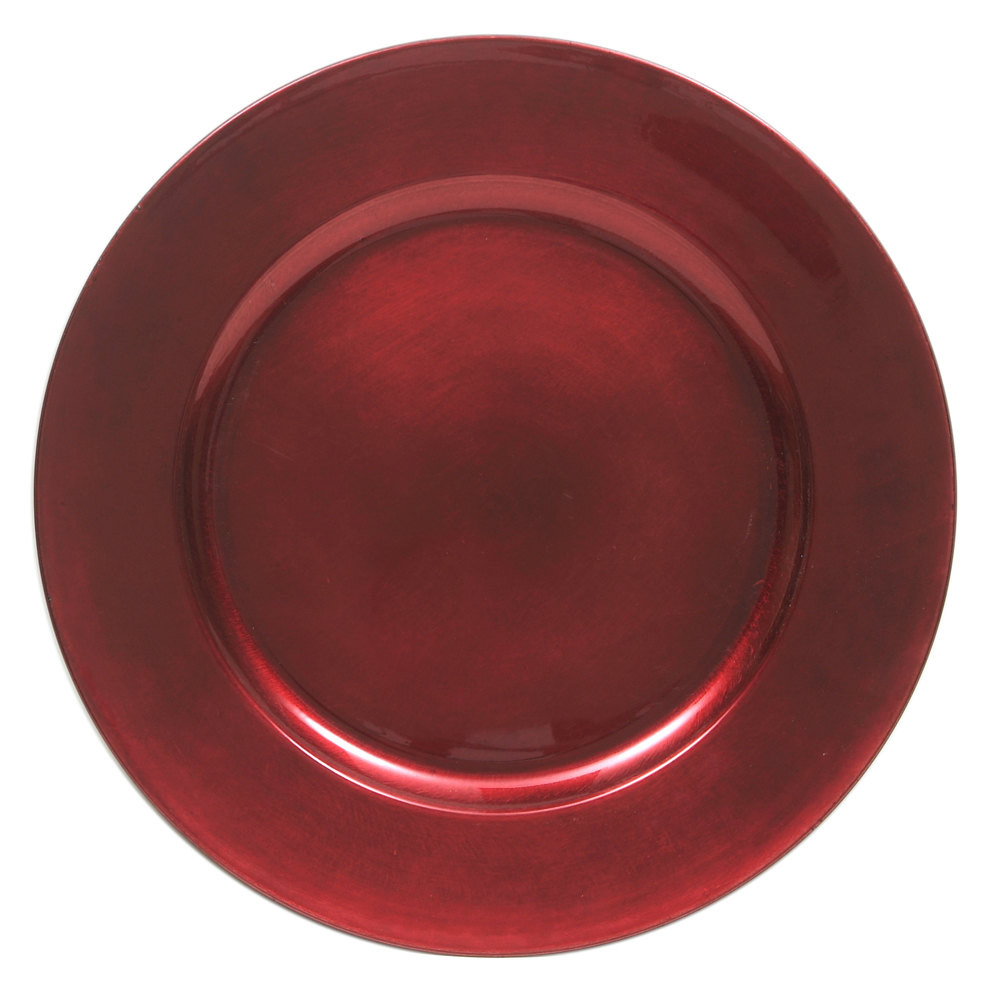 Case Of 24 Red Round Charger Plates 2 75 Pc Events