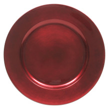 Case of 24 Red Round Charger Plates