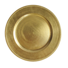Case of 24 Gold Round Beaded Charger Plates