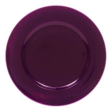 Case of 24 Metallic Purple Round Charger Plates