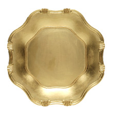 "Case of 24 Gold Baroque 13"" Round Charger Plates"