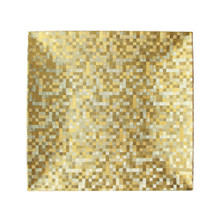 "Case of 24 Gold Mosaic 13"" Square Charger Plates"