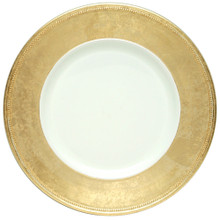"Case of 24 Gold Rim 13"" Round Charger Plates"