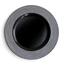 "Case of 12 Black Diamond 13"" Round Charger Plates"