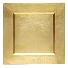 "Case of 24 Gold 13"" Square Charger Plates"