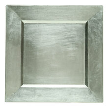 "Case of 24 Silver 13"" Square Charger Plates"