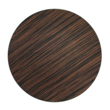 "Case of 24 Brown Pine Faux Wood 13"" Round Charger Plates"