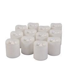 "Wavy Edge Plastic LED Votives, 1.57"" x 1.77"" - 144 Pieces"