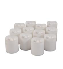"""Wavy Edge Plastic LED Votives, 1.57"""" x 1.77"""" - 144 Pieces"""
