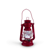 Small Red Indoor/Outdoor Hurricane Lantern with Dimmer Switch - 4 Lanterns